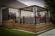 Project carried out by Pur Patio. Rope Swing colors Trex composite patio … - Home & DIY Patio Plans, Pergola Plans, Pergola Ideas, Patio Ideas, Backyard Patio Designs, Pergola Patio, Small Backyard Decks, Gazebo On Deck, Cheap Pergola