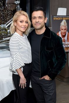 "Kelly Ripa Photos Photos - Actors Kelly Ripa and Mark Consuelos attend the ""Two Turns From Zero"" Book Launch Event at The Regency Bar and Grill on March 8, 2017 in New York City. - 'Two Turns From Zero' Book Launch Event"