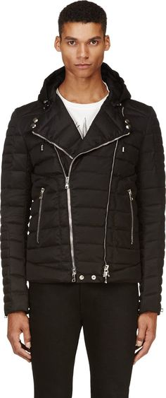 Balmain - Black Quilted Puffer Jacket