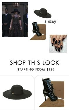 """""""because i slay"""" by demarcomichael ❤ liked on Polyvore featuring Melissa Odabash and Gianvito Rossi"""