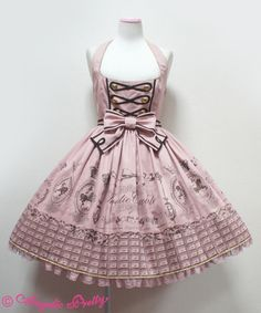 Angelic Pretty's Royal Creamy Chocolate JSK in Pink
