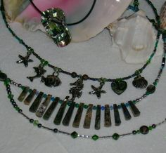 ABALONE Blowout SALE  Three Necklaces one FREE by MyGrandmasHome
