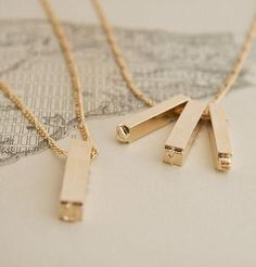 Letterpress Necklace (gold Plate) | Erica Weiner