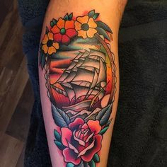 Best Of Pirate Ship Tattoo Color