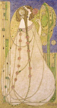 ART NOUVEAU - ÉCOSSE - Charles Rennie Mackintosh - Margaret Macdonald (épouse de Charles Renni Mackintosh)