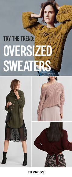 Sweater weather is officially here. Warm up in this seasonÕs hottest trendsÑoversized sweaters. Cute and cozy, the mid weight fabric with a relaxed shape will have you reaching for this piece any chance you get. Shop today at Express.com.