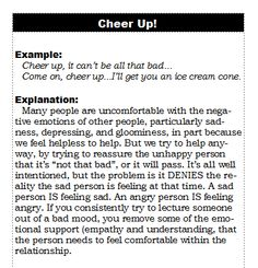 You mean well when you try to cheer someone up. But it doesn't usually work, does it. Worse, it can cause relationship problems. Here's why.