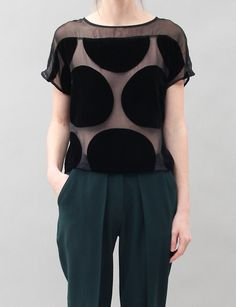 Creatures of Comfort Gigi Top- Black. Proportions, probably something less sheer for the classroom though.
