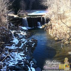 Winter in Vermont waterfall