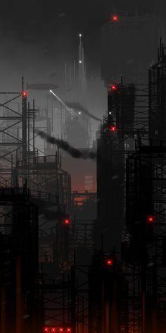 Cyberpunk Atmosphere, Futuristic, Future City, Dark Future by Chris Spencer