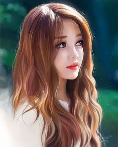 Joni looking worried beautiful anime girl, beautiful girl drawing, digita. Chica Fantasy, Fantasy Girl, Cartoon Kunst, Cartoon Art, Dibujos Tumblr A Color, Girl Cartoon Characters, Lovely Girl Image, Girly Drawings, Realistic Drawings