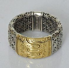Konstantino for Man 18K Gold Sterling Silver Ring Band