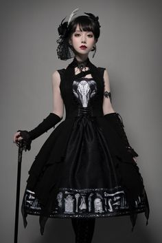 Foxtrot -The Tomb of Gabriel- Vintage Gothic Lolita JSK + Corset Set (shipping date: in late July),Lolita Dresses, Steampunk Lolita, Gothic Lolita Fashion, Gothic Outfits, Gothic Dress, Victorian Fashion, Lolita Cosplay, Fashion Victim, Lolita Mode, Lolita Style