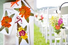 What a sweet idea for wedding favors, pressed flowers. Kate Saler Photography: Emily & Jon's Gorgeous Waldenwoods Wedding- www.katesalerphotography.com
