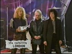 American Music Awards when Jimmy Page and Robert Plant were on tour for Unledded 1994. Here with Jason Bonham.