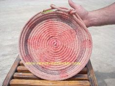 rope baskets  custom orders welcome  http://www.rknotranchwear.com