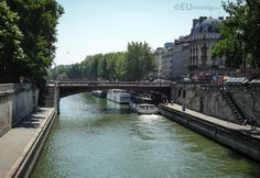 A short bridge named Pont au Double connecting over the River Seine to the island in the centre of the city.  See more www.eutouring.com/images_river_seine.html