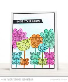 Hello and welcome to day 1 of the My Favorite Things   March card kit countdown. The new Doodled Blooms card kit has an  awesome floral sta...