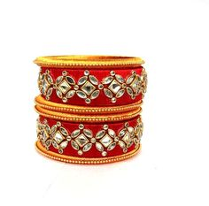 handmade silk thred bangles from india Silk Thread Bangles Design, Thread Jewellery, Diy Jewellery, Jewelry Crafts, Gold Jewelry, Jewelry Design, Punjabi Suits Designer Boutique, Beautiful Mehndi Design, Diwali Decorations