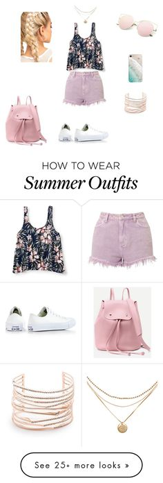 """summer outfit"" by astraunicorns on Polyvore featuring Miss Selfridge, Aéropostale, Converse, Gray Malin and Alexis Bittar"