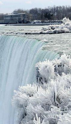 Frozen Niagara Falls In Winter by Christine Schaeffer