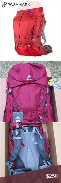 BNWT Gregory Deva 60 Backpack Brand New! Women's Gregory Deva 60 Hiking Backpack. Size Small. I purchased this for a trip I was planning to #Peru last Xmas but my plans changed. Retails for $299.  Open to reasonable offers :)    #backpack #gregory #hiking #camping #outdoors #backpacking #deva60 #womensbackpack #naturelover #athlete #women #ladies #travel #sports #deva #backpack Gregory Bags Backpacks