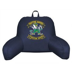 University of Notre Dame Bed Rest Pillow----or even for grandpa to help him sit up? hmm. not sure? birthday gift?