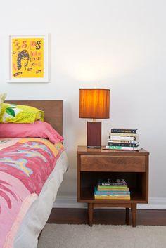 ventura nightstand bedside table solid walnut tapered leg