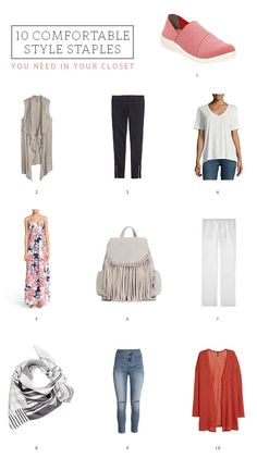 The most comfortable pieces you MUST have in your closet! From stylish yet sporty shoes to slouchy sweaters and vintage-inspired tees to skinny jeans and silk scarves, these 10 style staples will keep you feeling comfortable throughout spring and summer, all the way through fall and winter! http://www.ehow.com/how_12343238_10-comfortable-style-staples-need-closet.html?utm_source=pinterest.com&utm_medium=referral&utm_content=freestyle&utm_campaign=fanpage