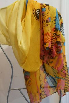 Fish ScarfYellow Fashion ScarfScarf with FishBeach Sarong Scarf Sale, Wedding Shawl, Summer Scarves, Yellow Fashion, Cotton Scarf, Beach Covers, Beachwear, Cover Up, Beautiful Women