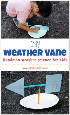 Build a homemade weather vane to learn about the wind. What a fun, hands-on weather science activity for kids. Gotta try this as part of our weather unit! || Gift of Curiosity
