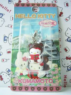 GOTOCHI HELLO KITTY Kawaii Charm Mascot Figure Bear KUMAMOTO Japan Sanrio NEW *SOLD OUT!*