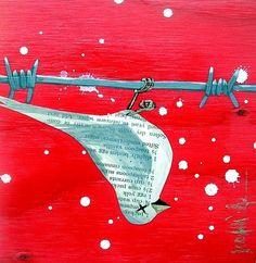 jennifer culp art: plywood bird paintings