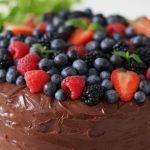Luksus chokoladekage i enten 1 eller 2 lag