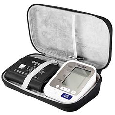 BOVKE EVA Hard Case Travel Carrying Bag for Omron 5 Series Wireless Upper Arm Blood Pressure Monitor fits Standard and Large Arms BP742NBlack ** Find out more about the great product at the image link.