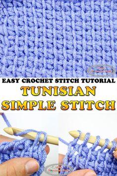 5da32b4d94e How to Crochet the Tunisian Simple Stitch - Photo and Video Tutorial