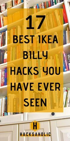 The best Ikea Billy hacks available. The Ikea Billy is an iconic piece of furniture and is so easy to hack into something amazing. Find some fantastic Ikea Billy hack ideas here. Ikea Billy Hack, Ikea Kallax Hack, Ikea Hackers, Ikea Furniture Hacks, Furniture Makeover, Repurposed Furniture, Furniture Ideas, Libreria Billy Ikea, Ikea Billy Bookcase Hack