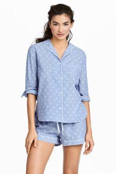 bfea6ec10570 Cotton pyjamas - Chambray Patterned - Ladies