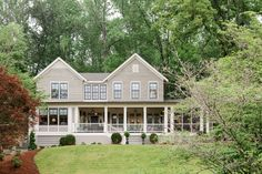 Southern Farmhouse Curran & Co. Southern Farmhouse, Farmhouse Interior, Farmhouse Design, Farmhouse Style, Exterior Siding Options, Exterior Design, House Awnings, Building Companies, Traditional Exterior