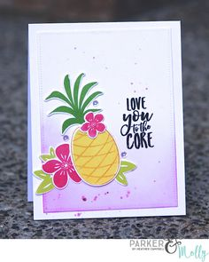 Love You To The Core Card by @parkermolly for the #EllenHutsonLLC blog hop. #EssentialsbyEllen #StayGolden