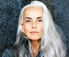 Yasmina Rossi reveals her secrets to a youthful glow. Australian Women's Weekly content brought to you by Now to Love Mature Women Hairstyles, Easy Hairstyles, Grey Hair Without Looking Old, Yasmina Rossi, Beautiful Women Over 50, Beautiful People, Grey Hair Looks, Going Gray Gracefully, Long Gray Hair