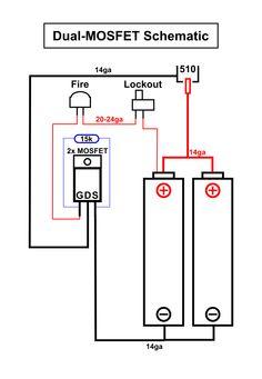 DIY Box mod. Dual 18650 parallel. Dual mosfet schematic.