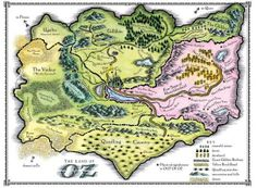 Real maps of fictional places. The Land of Oz