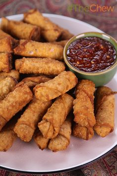 Myrna's Mini Filipino Egg Rolls by Myrna Razak - these delicious meat-filled egg rolls are so addictive - you can't have just one!
