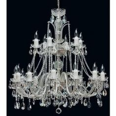 Tomia L 150/18/002 chrome Royal Family Ava 18-Light Crystal Chandelier