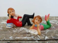 Vintage Cake Toppers Cake Decorations Boy by VintageShoppingSpree, $9.50