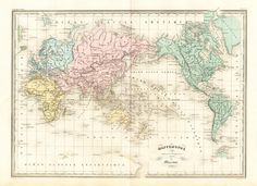 Antique Map World Mercator Projection Malte Brun Sarrazin 1880 | eBay  From The Prints Collector eBay store (maps and other antique prints)