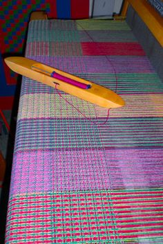 new blankets in pinks and greens on the loom in super soft shetland wool Jo Andrews Weaving Yarn, Weaving Textiles, Weaving Patterns, Hand Weaving, Textiles Techniques, Weaving Techniques, Weaving Projects, Knitting Projects, Shetland Wool