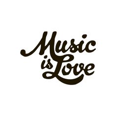 Music Is Love Quote Vinyl Wall Art