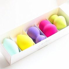 Makeup Sponges 5 Pc Beauty Pro Makeup Blender Sponge Not Allergic All Skin Types #dePrettilicious